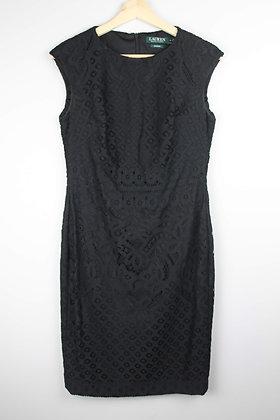 Ralph Lauren Black Lace Shift Dress