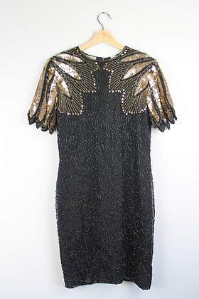 Vintage Sequin and Beaded Dress