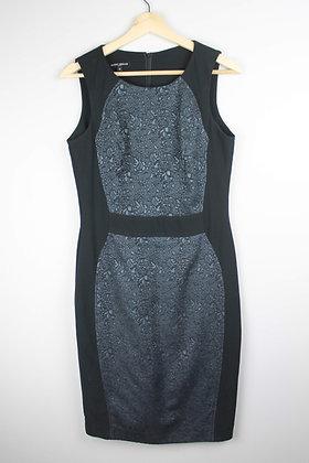 Mario Serrano Blue and Black Shift Dress