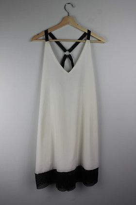 Suka Crossback Dress with Mesh Trim