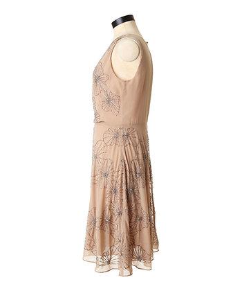 Beaded Crossfront Dress