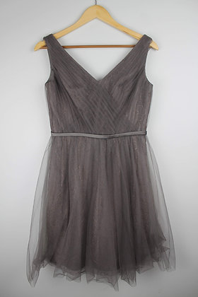 Grey Lace and Tulle Party Dress