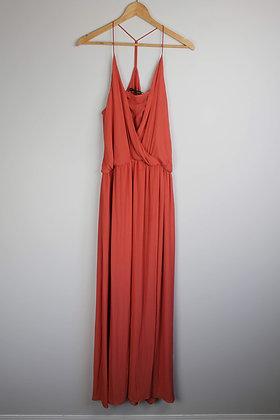 Chiffon Faux-Wrap Gown