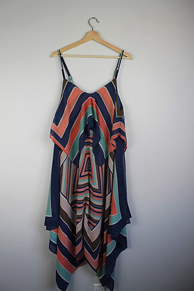 Graphic Print Tiered Dress