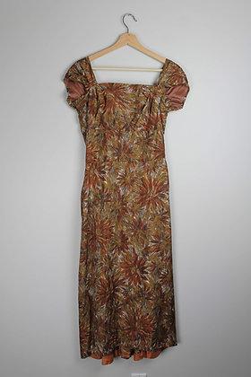 Vintage 1950's Silk Party Dress