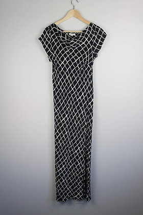 Black and White Capsleeve Maxi