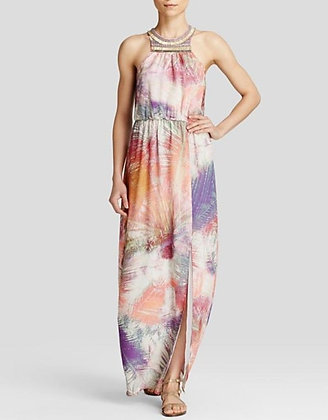 "Charlie Jade ""Ava"" Palm Print Gown"