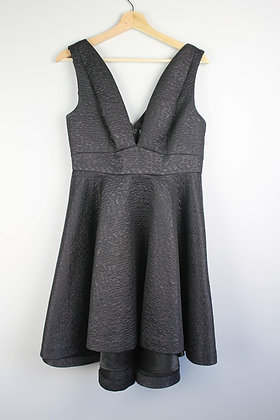 Deep V Fit-and-Flare Dress