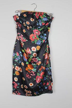 Floral Strapless Cocktail Dress