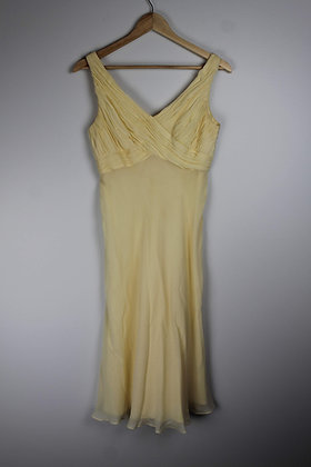 Vintage Yellow Crossfront Cocktail Dress
