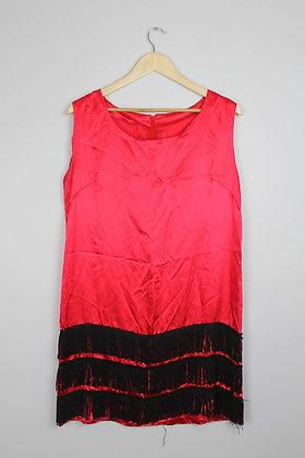 Red Satin Flapper Dress