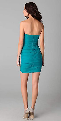 BCBG Ruched Cocktail Dress