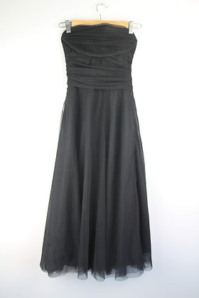 Black Tulle Strapless Party Dress
