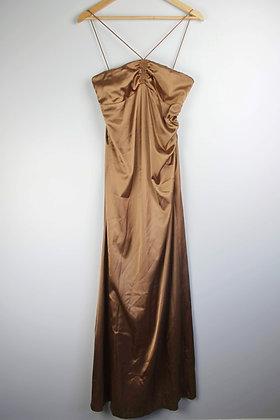 Halter Strap Slinky Gown