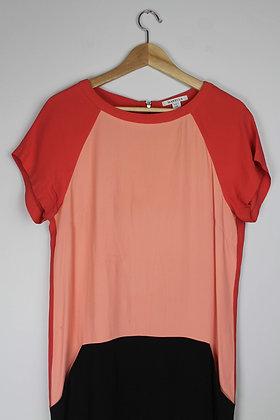 Colourblock Silk Dress