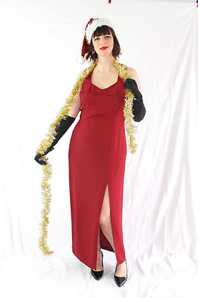 Red Gown with Criss-cross Straps