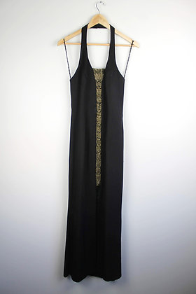 Vintage Halter Gown with Beading