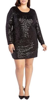 Black Patterned Sequin Dress