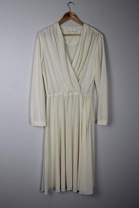 1970's Sheer Faux-Wrap Dress