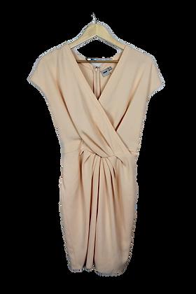 Peach Crossfront Cocktail Dress