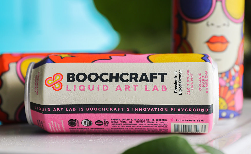 Boochcraft kombuch can art by livelyscout