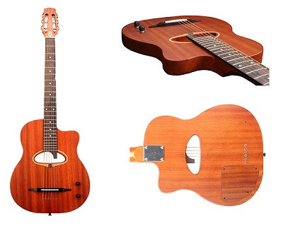 D Hole Piezo Pickup Steel String Bluetooth Guitar