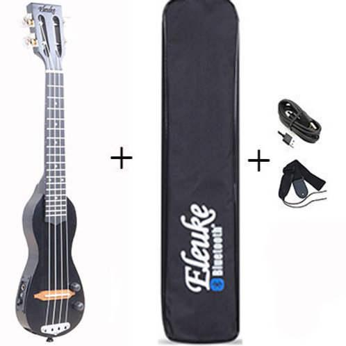 Bluetooth EleUke CPE-BK2020 Concert Ukulele With Carrying Case, Strap & Cords