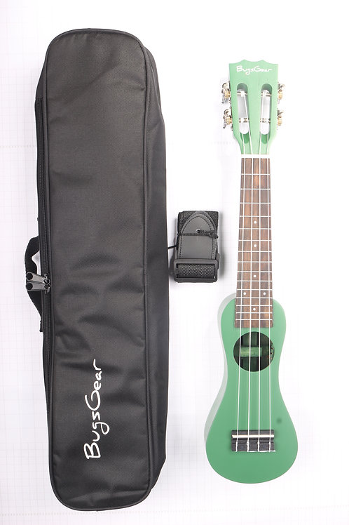 Acoustic Peanut Soprano Ukulele APE-SGR With Ukulele Carrying Case & Strap