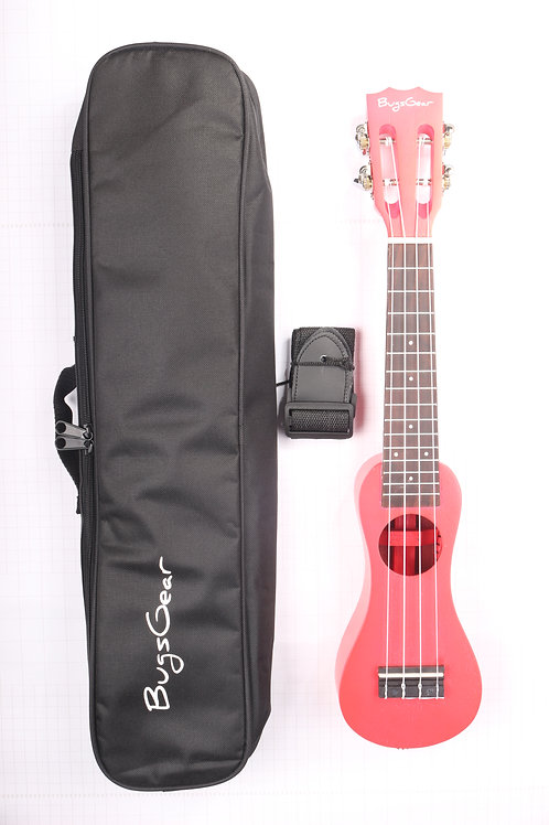 Acoustic Peanut Soprano Ukulele APE-SRD With Ukulele Carrying Case & Strap