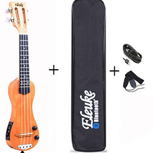 Bluetooth EleUke PEMH2020 Ukulele With Gig Bag, Strap & Cables