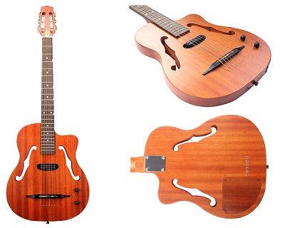 F Hole Humbucker Coil Pickup | Solid Body Bluetooth Guitars