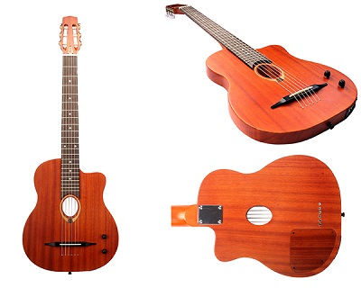 Oval Hole Piezo Pickup Nylon String Bluetooth Guitar