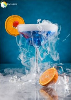 Suchy lód do drinków