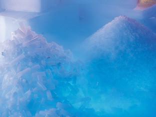 Suchy lód do transportu szczepionek