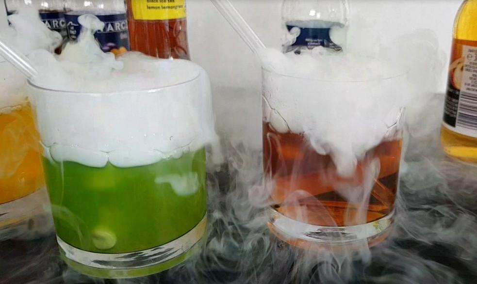 suchy lód do napojów