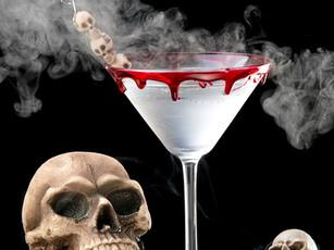 Suchy lód do drinków na Halloween