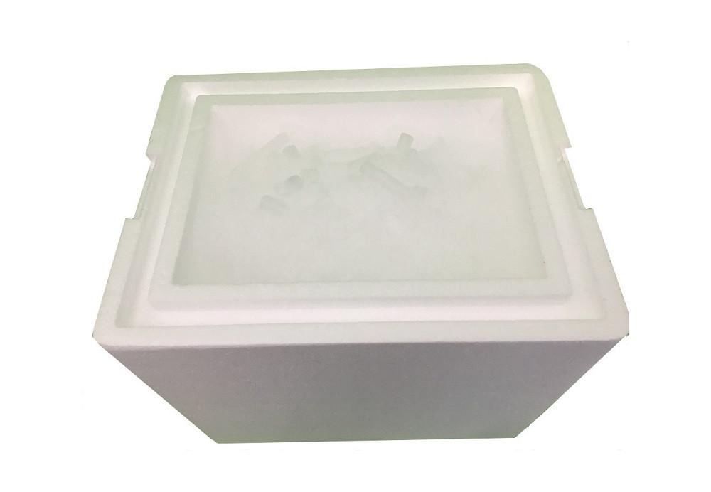 granulat suchego lodu fi 16 mm w zestawie wysyłkowym