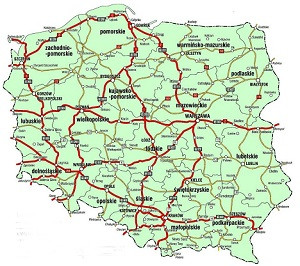 mapa dostaw suchego lodu w Polsce