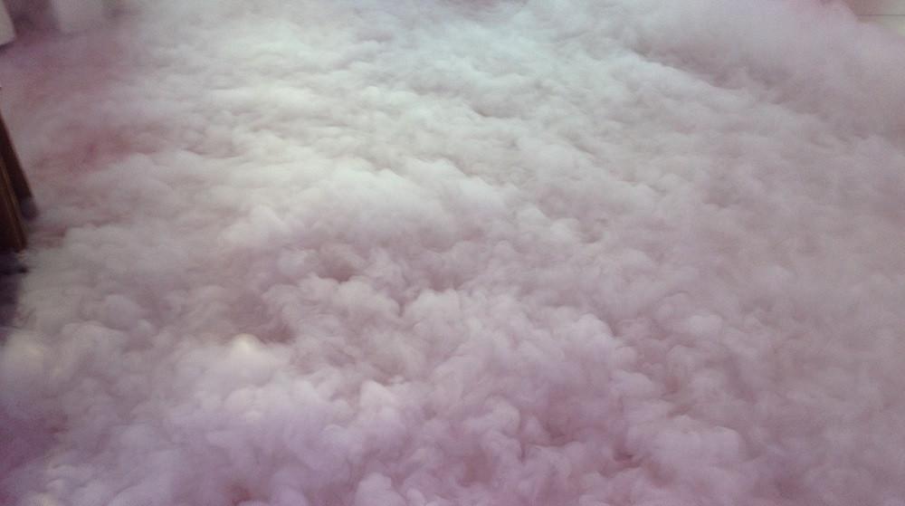dym uzyskany z sublimacji suchego lodu