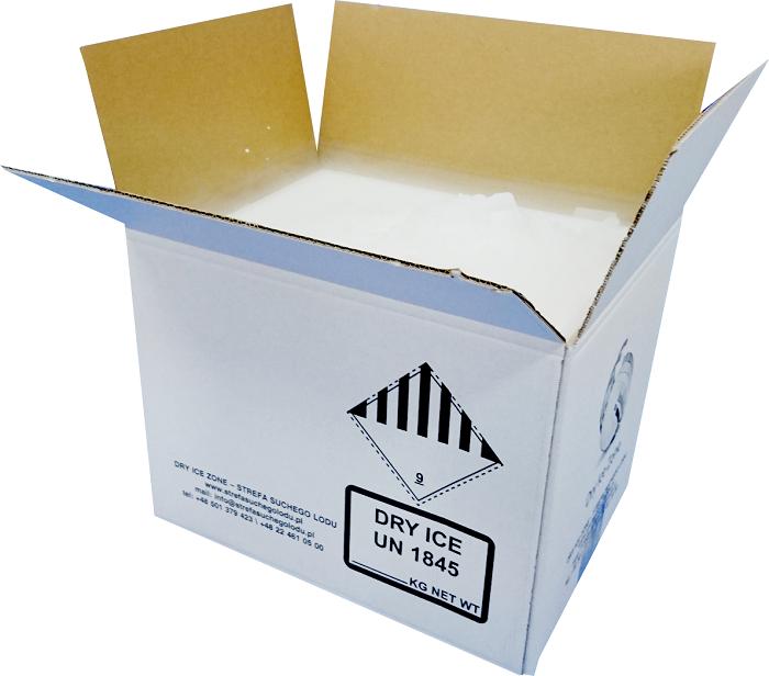 zestaw suchego lodu o zawartości 12 kg granulatu