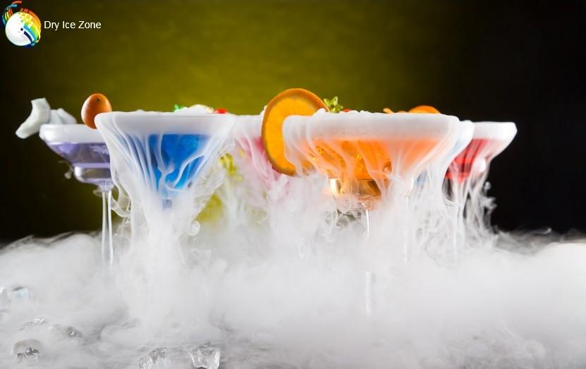 drinki z suchym lodem