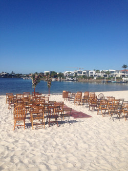 beach wedding ceremony singer