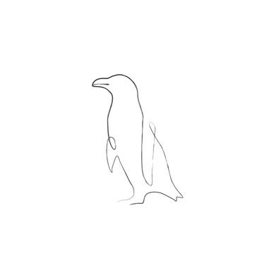 Penguin Line Art