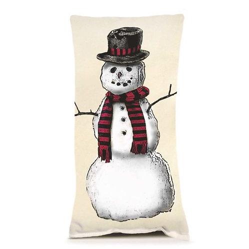 SNOWMAN #2 SMALL PILLOW
