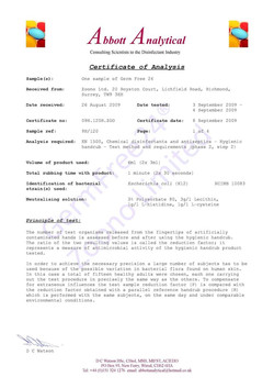 Certification Page 1