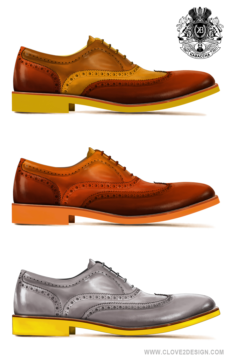 Wingtip Shoe Illustrations