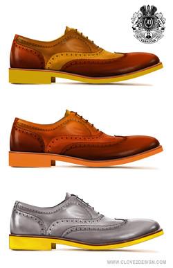 Wingtip Shoe Illustrations