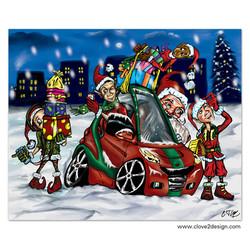 Santa Smart Car