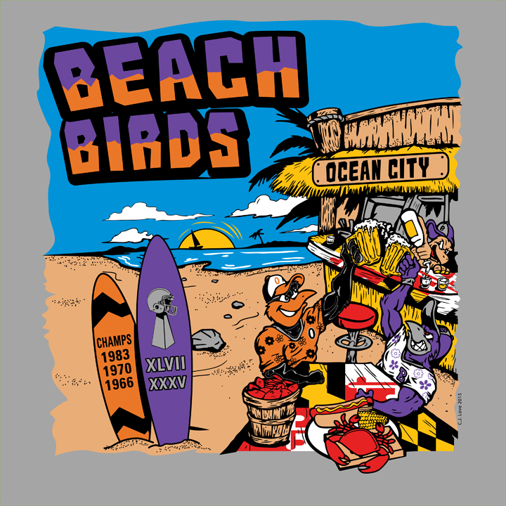 Beach Birds (Adobe Illustrator)