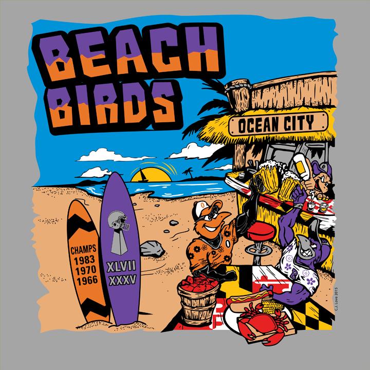 Beach Birds (Adobe Illustrator)